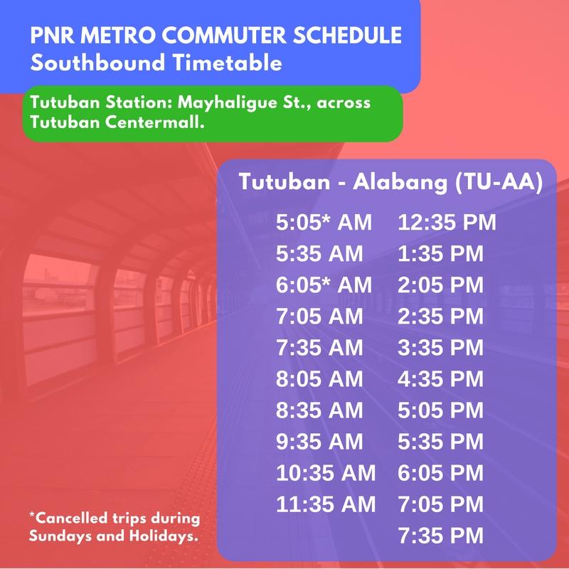 pnr southbound schedule